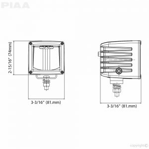 RF3 LED Cube Light Driving Beam Kit